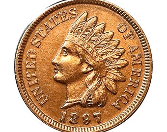 1897 Indian Head Cent - Choice BU / MS / Unc