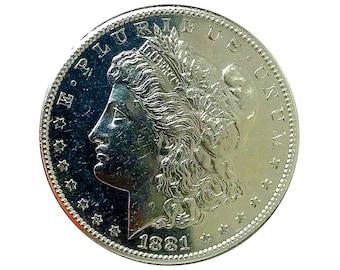 1881 S Morgan Dollar - Gem PL / Proof Like