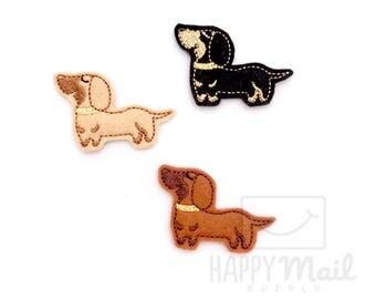 Dachshund Weiner Dog Felties - CUT Felties - Set of 4