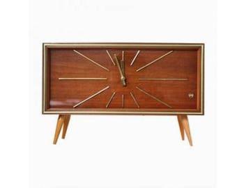 Large Vintage Mid-Century WEIMAR UHREN Mantel Clock, 1950's Germany - Vintage Clock - Table Clock - Winding Clock - Three bar Chime Clock