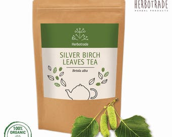 Silver Birch leaves, betula pendula, Premium Quality Silver Birch leaves 90gr / 3 oz