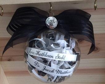 Wedding Invitation Ornament, Custom, Any Occasion