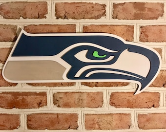 24in Seattle Seahawks sign limited edition 3d custom mancave bar basement!