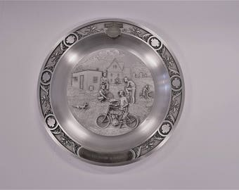 1991 Harley Davidson The Birth Of A Legend Collectible Pewter Plate LTD Series 00 #1368/3000