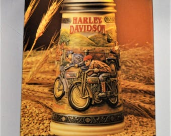 Harley Davidson The Growth Of The Sport 1910 Decade Collectors Stein LTD #16 COA