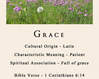 Name Meaning with biblical verse with choice of photograph *Personal*