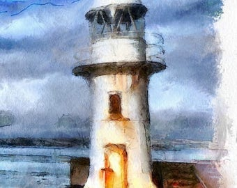 Inspirational Journal Weathered Lighthouse