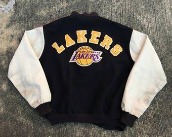 Vintage Los Angeles Lakers Jacket NBA Basketball