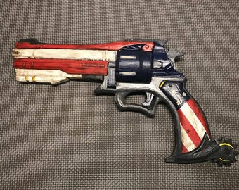 3D Printed Overwatch McCree Peacekeeper Revolver Gun Pistol Cosplay