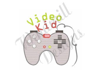 Video Game Controller - Machine Embroidery Design