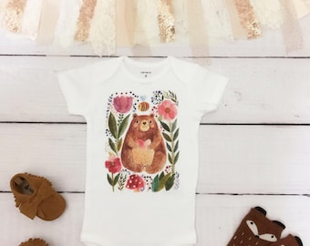 baby boho clothes, boho baby clothes, bear baby clothes, take home outfit, hipster baby clothes, coming home outfit, newborn outfit