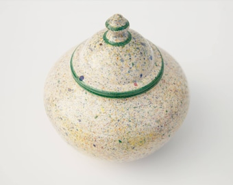 Unique 1000 ml Speckled Jar with lid