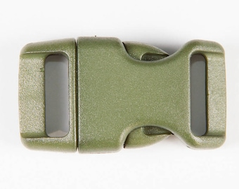 5 clips plastic 20mm Army Green Paracord Bracelet