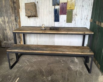 Furniture industrial style Table and bench