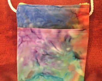 Watercolor tie-dye cross body bag