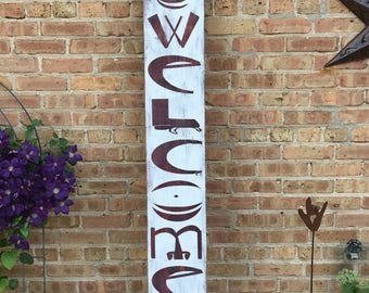 Hand Painted Welcome Patio and Porch Sign