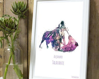 Alejandro Talavante colour A4 unframed print