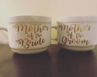 Mother of the Bride and Groom mug, mother of the bride gift, mother of the groom gift, Wedding gift, Wedding mugs, Mother of the bride