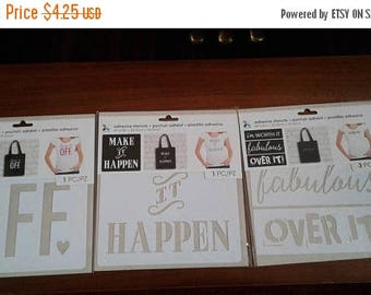 Summer Time Sale Momenta   Adhesive Stencils   8in x 8in   Choose from 3 Designs