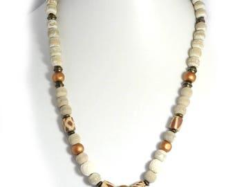 Coconut shell bracelet and necklace set