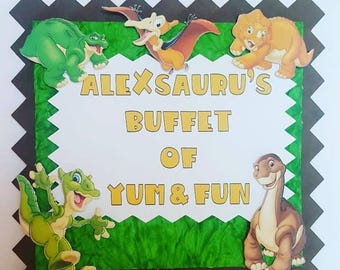 Land before Time Entrance Sign