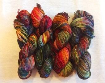 The North Remembers - Hand Dyed Yarn - Sock Yarn - DK Yarn - Geek Yarn - Speckled Yarn - Hand Dyed Sock Yarn