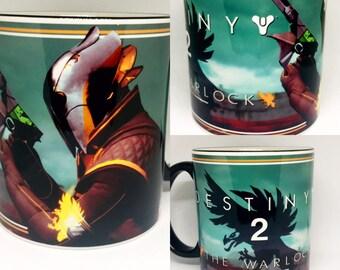 Custom Made Destiny 2 v2 The Warlock Coffee Mug 15oz and 11oz Personalized