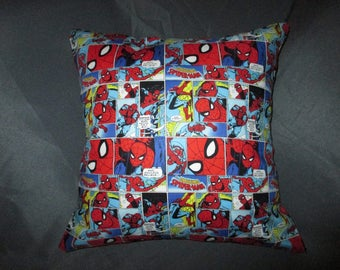 "Amazing Spider Man Comic Strip 16"" x 16"" Decorative Throw Pillow (with Pillow Insert)"