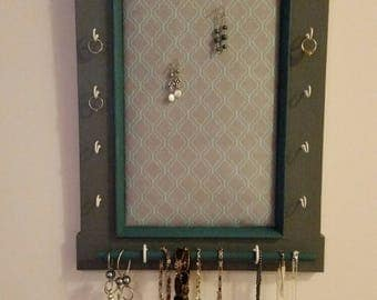 Hanging Jewelry Holder, Earring Holder, Wall Mounted Jewelry Holder, Wall Mounted Jewelry Organizer