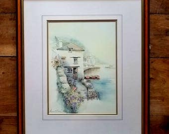 Anna G Collier Signed Print, Anna Collier Prints, Cornish Art, French Provincial Art, Limited edition Prints, Anna Collier