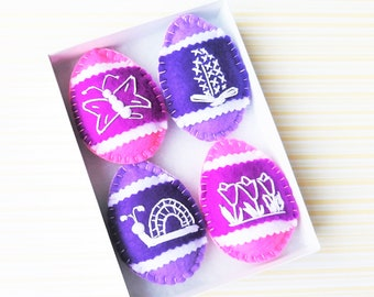Pastel Pink Lilac Purple Easter Decorations Ideas Easter Eggs for Tree Ornaments - Purple Easter Ornaments
