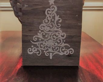 Christmas plaque from reclaimed siding