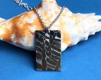 Seymchan Meteorite Pendant, meteorite necklace