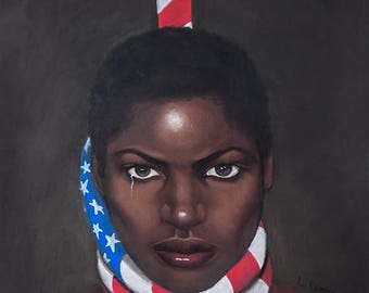Black woman in America by Laurie Cooper,Canvas Art (22x27),Black Art,African American Art,Prints,Posters,Wall art