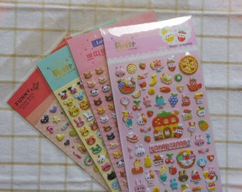 Stickers in 4 assorted designs animals and food here are listed and numbered lists