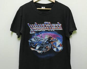 vintage 90s 1991 judas priest painkiller world tour english heavy metal band big image promo t