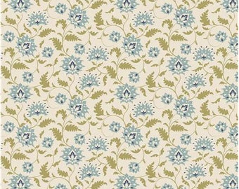 Tilda fabric - Fat quarter 50X55cm - Tilda Fabrics by Tone Finnanger - honey blue and green design