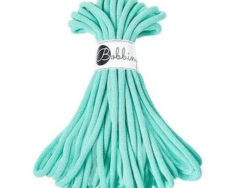 Bobbiny Jumbo Cotton Cord Mint 20 meters Macrame,Crotchet, Knit, Cord,5 mm diameter