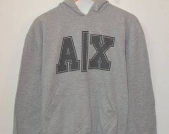 Vintage Armani Exchange logo hoodie 90s sweatshirt