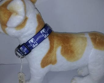 Adjustable NY baseball dog collar