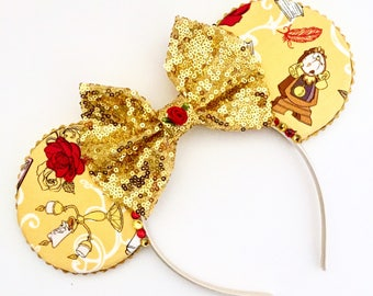 The Servants - Handmade Beauty and the Beast inspired Mouse Ears Headband