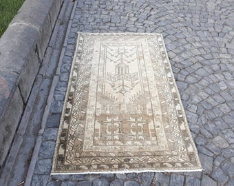 FREE SHIPPING! Turkish Rug Beautiful MidCentury Oushak Rug from Turkey  Rug Color Pastel Pile 71 x 40 inches