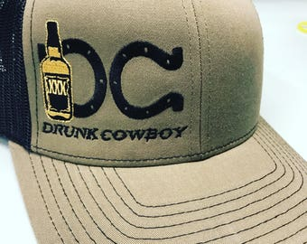 DRUNKCOWBOY loden green black and gold SnapBack