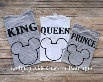 King, Queen, Prince or Princess on back of tee short sleeve Shirt*