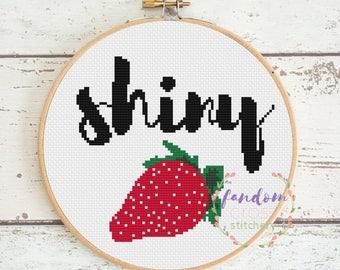 Shiny Firefly Cross Stitch PDF Pattern | Instant Digital Download | Geek Cross Stitch Pattern | Firefly Cross Stitch Pattern
