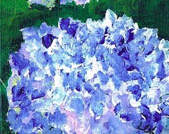 Purple Hydrangea 1 – Acrylic – Original Painting