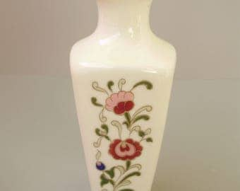 Lovely Vintage,Hungarian Zsolnay vase,stamped,hand painted