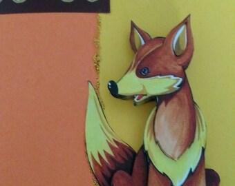 """Card 3D """"smart Fox"""""""