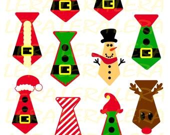 60 % OFF, Santa Tie Set SVG, Christmas svg, Tie svg, Christmas Tie svg, Holiday svg svg, png, eps, dxf, Instant download  vector files