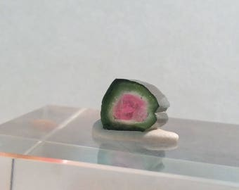 3.8 ct watermelon tourmaline slice from Kunar,Afghanistan E20